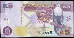 Zambia 5 Kwacha PK Nuevo (2.015) S/C