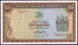 Rodesia 5 Dólares PK 36b (20-10-1.978) EBC+