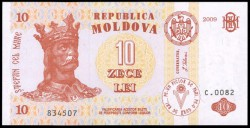 Moldavia 10 Lei PK 10f (2.009) S/C