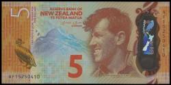 Nueva Zelanda 5 Dólares PK Nuevo (2.015) S/C
