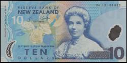 Nueva Zelanda 10 Dólares PK Nuevo (186) (2.013) S/C