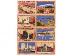 Bremen 2 de 25, 2 de 50, 2 de 75 y 2 de 100 Pfennig (1.923) KL 158 S/C-