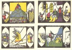 Döbeln 4 de 50 Pfennig (5, 6 7 y 8) (1-9-1.921) KL 268. Lote 2 de 2. S/C