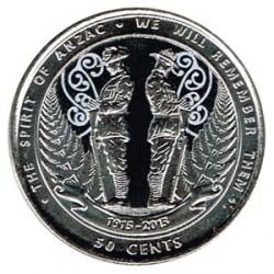 Nueva Zelanda 2015 50 Centavos. ANZAC S/C