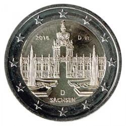 Alemania 2016 2 Euros Ceca D Palacio Zwinger de Dresde S/C