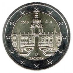 Alemania 2016 2 Euros Ceca G Palacio Zwinger de Dresde S/C