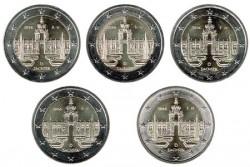 Alemania 2016 2 Euros . Las 5 Cecas Palacio Zwinger de Dresde S/C