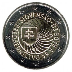 Eslovaquia 2016 2 Euros Presidencia Eslovaca S/C