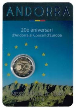 Andorra 2014 2 Euros. Consejo de Europa S/C