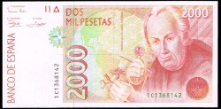 2000 Pesetas 1992 Celestino Mutis S/C 1er. diseño