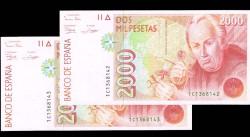 2000 Pesetas 1992 Celestino Mutis S/C 1er. diseño Pareja