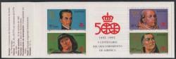 1991 - V Centenario del Descubrimiento de América. (3137-40)(Sellos sueltos)
