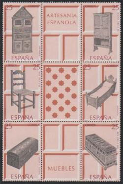 1991 - Artesanía Española. Muebles (3127-32)