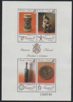 1991 - Patrimonio Artístico Nacional. Porcelana y cerámica. (3115)