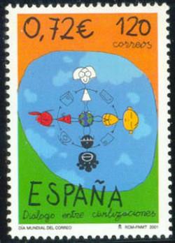 2001 - Día Mundial del Correo.(3820)