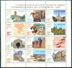 2001 - Patrimonio Mundial de la Humanidad. (3843-54)