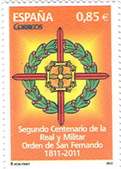 2012 - II Centenario de la Real y Militar Orden de San Fernando . (4707)