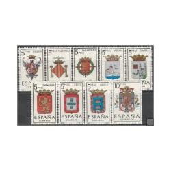 1966 - Escudos de las capitales de provincia españolas y de España. (1696-1704)