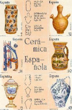 1987 - Artesanía española. Cerámica. (2891-96)