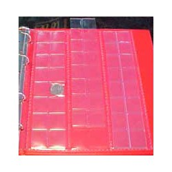 Hojas BBB 48 espacios para álbum monedas pequeño
