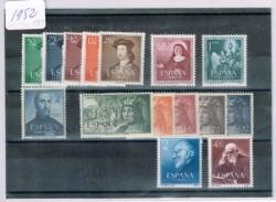 1952 Año completo de sellos