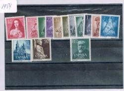 1954 Año completo de sellos