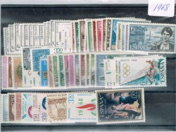 1968 Año completo de sellos