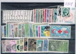 1969 Año completo de sellos