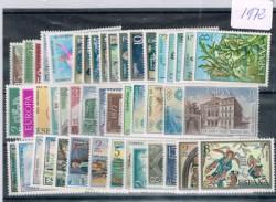 1972 Año completo de sellos