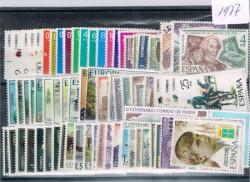 1977 Año completo de sellos