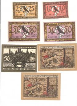 Merseburg 3 de 50 Pfennig (1-05-1.921) KL 860 Lote 2 de 3 S/C-