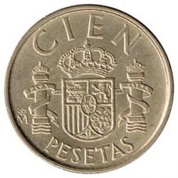 100 Pesetas 1990 reverso S/C