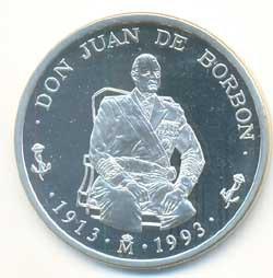 5 Ecus plata 1993 Don Juan de Borbón PROOF