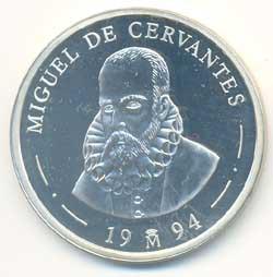5 Ecus plata 1994 Cervantes-Don Quijote PROOF