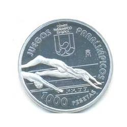 1.000 pesetas plata 1996 Juegos Paralímpicos de Atlanta 96 PROOF