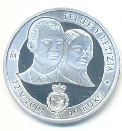 10 Euros plata 2004 Boda de Felipe y Leticia S/C