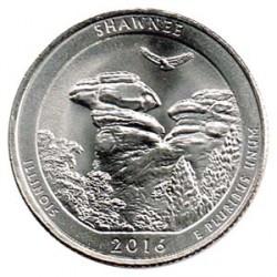Estados Unidos (Parques) 2016 1/4 Dólar P (Shawnee) S/C