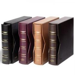 Tapas de anillas NUMIS classic de cuero, con cajetín de cuero, marrón