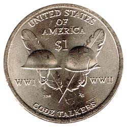 Estados Unidos 2016 1 dólar Sacagawea D. Code Talkers S/C