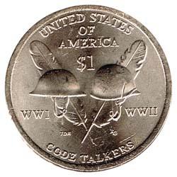 Estados Unidos 2016 1 dólar Sacagawea P. Code Talkers S/C