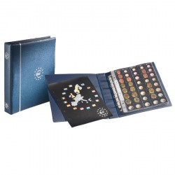 Álbum de monedas de euro en formato OPTIMA azul