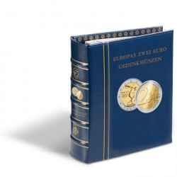 "Álbum preimpreso Classic-OPTIMA,""monedas europeas conmemorativas de 2 euro""+cajetín,azul"