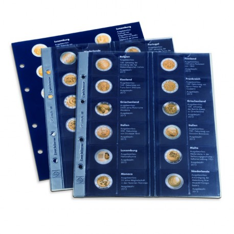 "Suplemento 2013 para Álbum preimpreso Classic-OPTIMA,""Monedas europeas conmemorativas de 2€"""