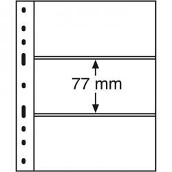 Hojas OPTIMA, 3 divisiones, transparentes