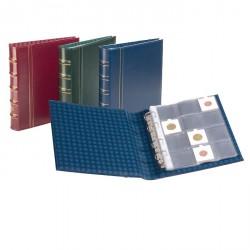 Ábum para cartones de monedas OPTIMA classic con 10 hojas transparentes, azul