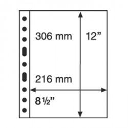 Hojas de plástico GRANDE, 1 división, negras