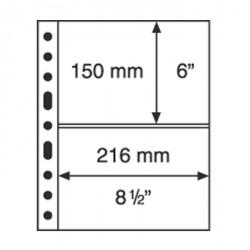 Hojas de plástico GRANDE, con 2 Bandas horizontales, negro