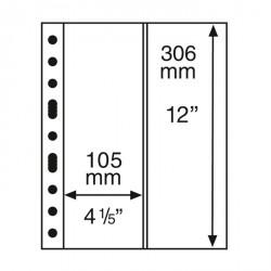 Hojas de plástico GRANDE, con 2 Bandas verticales, transparentes