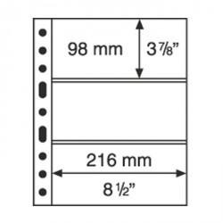 Hojas de plástico GRANDE, con 3 Bandas Horizonales, transparentes