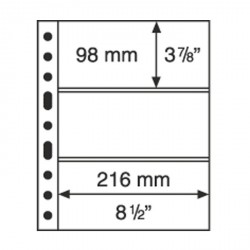 Hojas de plástico GRANDE, con 3 Bandas horizontales, negras